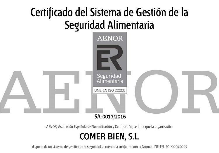 Combi Catering obtiene la certificación en ISO 22000 en la cocina central de Zaragoza