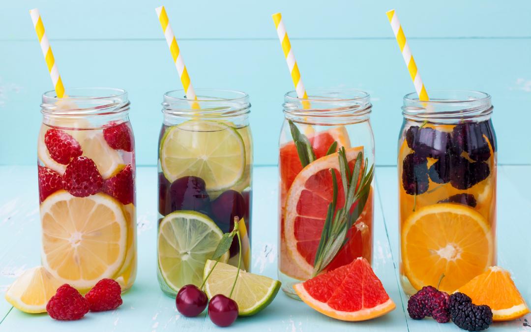 Aguas aromatizadas: Bebidas saludables para el verano