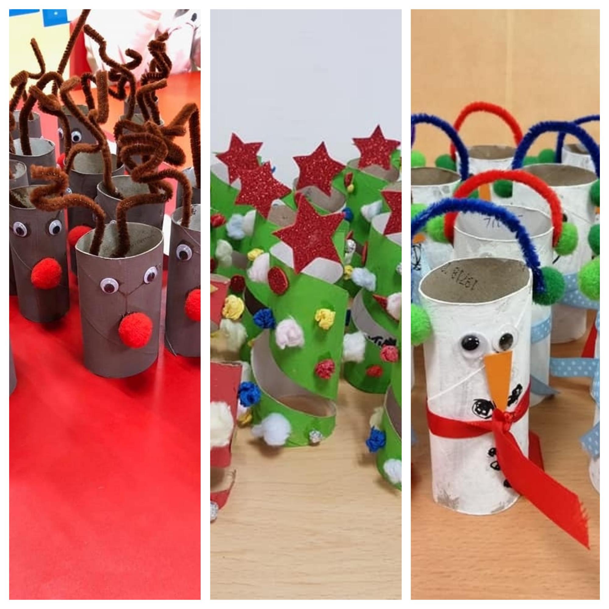 Manualidades fáciles Navidad con niños