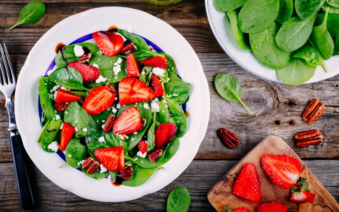 Receta saludable: ensalada de fresones y frutos secos